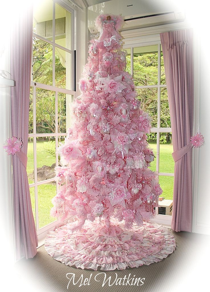 Pink christmas tree holiday home pinterest