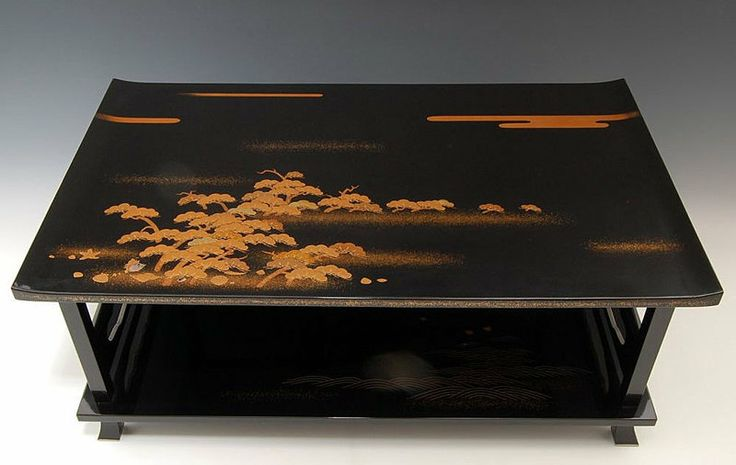 Shotosai Nakamura Japanese Lacquer Makie Stand Table