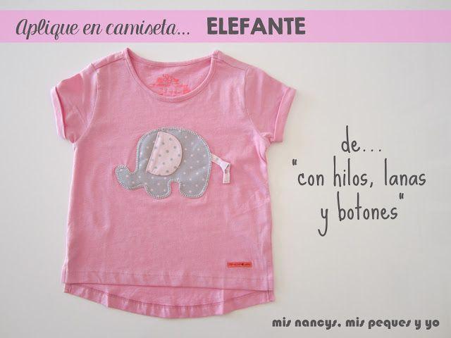 mis nancys, mis peques y yo, camiseta aplique elefante