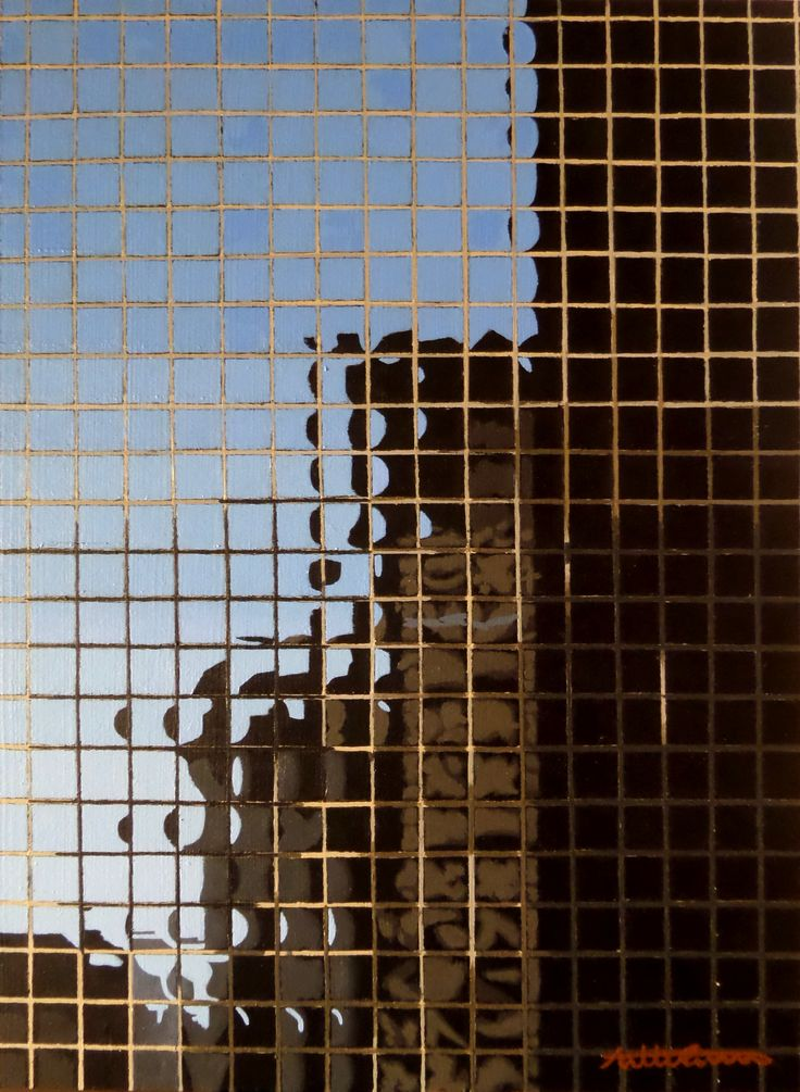 "Skyscraper, 2016, acrylic on wood panel, 34 x 25 cm, 13,3/8 x 9,7/8"". By Antti Rytkönen"