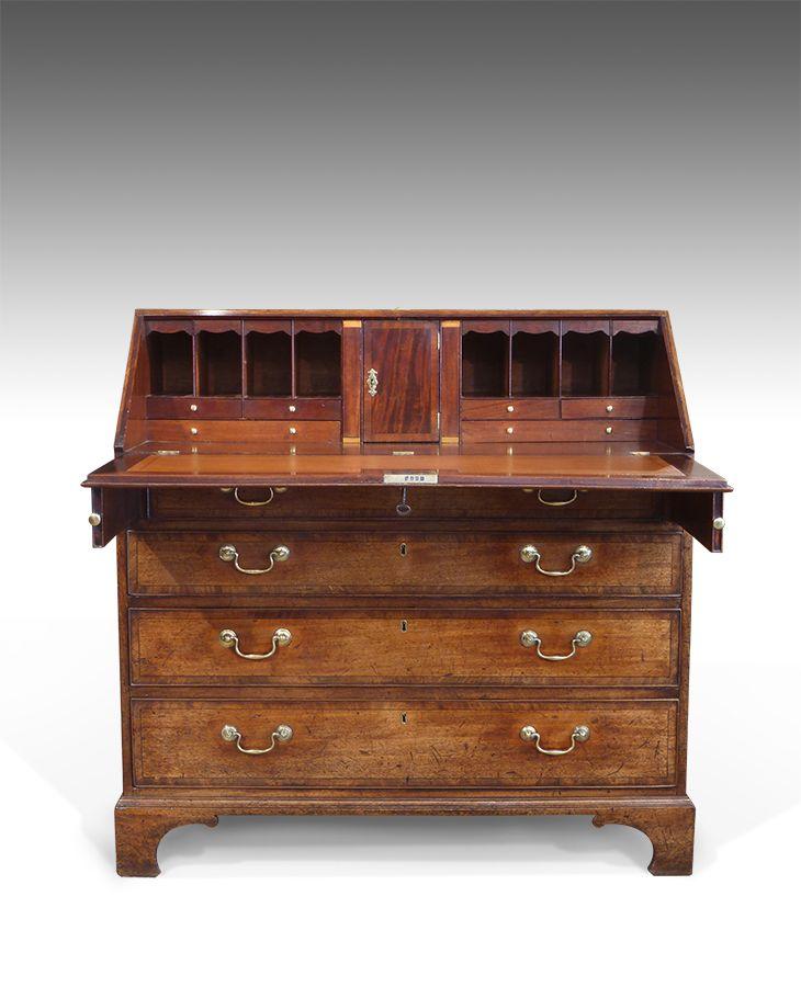 Georgian Bureau Antique Desk Furniture Accessories Antique