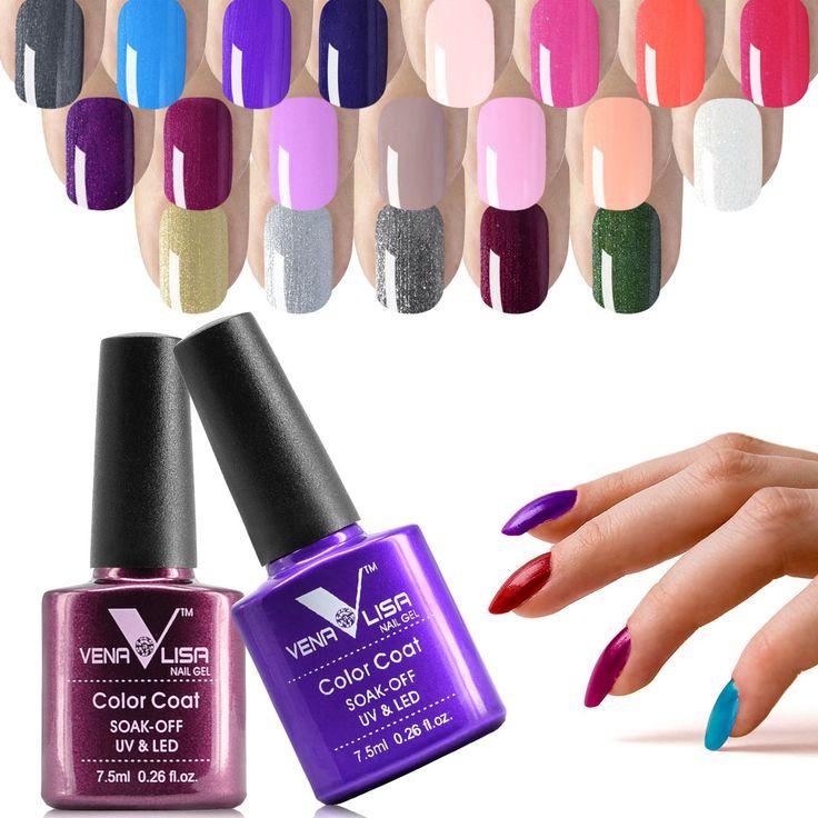 #61508 7.5ML Venalisa Hot sell Glitter Colors Gel Polish Soak Off UV Lamp Nail Art Nail Gel Polish for Nail Gel