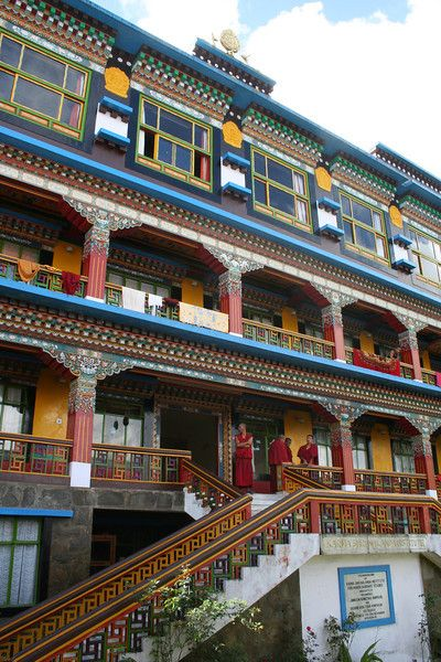 Sikkim, Rumtek Monastery in Gangtok. Watching the evening puja and staying the night in the hostel, magnificent!