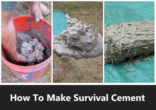 How To Make Survival Cement - See how easy it is to make your own cement if SHTF. You can repair homes, walkways and even build shelter with this stuff. It is simple to make, the ingredients are easy to come by and it is one of the most durable resources available in a primitive situation.