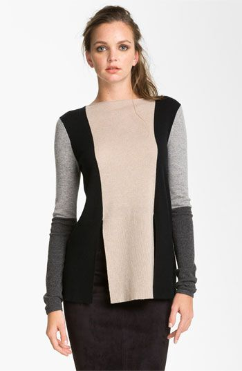 Robert Rodriguez Colorblock Sweater, $365; this could be done with old sweaters for $NOTHING$