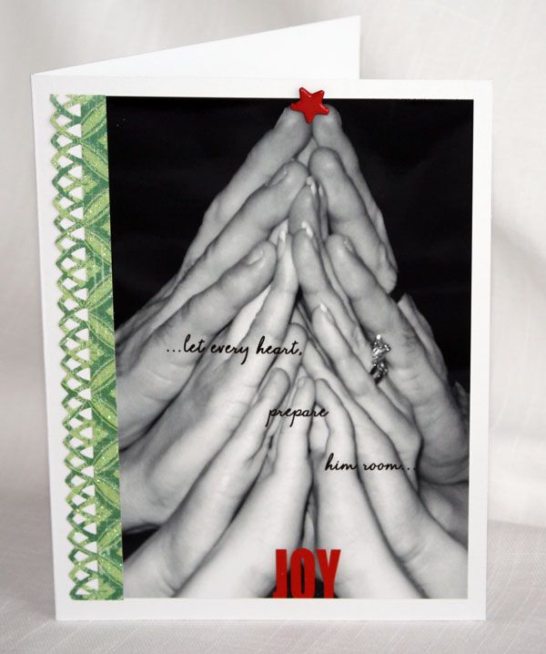 Christmas card made from a familys hands - LOVE this!!!Cards Ideas, Sweetest Ideas, Cute Ideas, Families Christmas Cards, I'M Sorry Gift, Families Photos, Christmas Trees, Christmas Photos, Xmas Cards