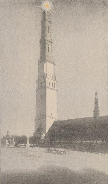 Wieża na Jasnej Górze - Leon Wyczółkowski