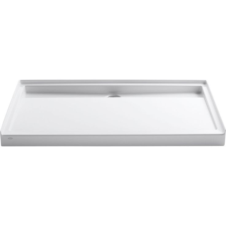 KOHLER Groove White Acrylic Shower Base (Common: 36-in W x 60-in L; Actual: 36-in W x 60-in L)