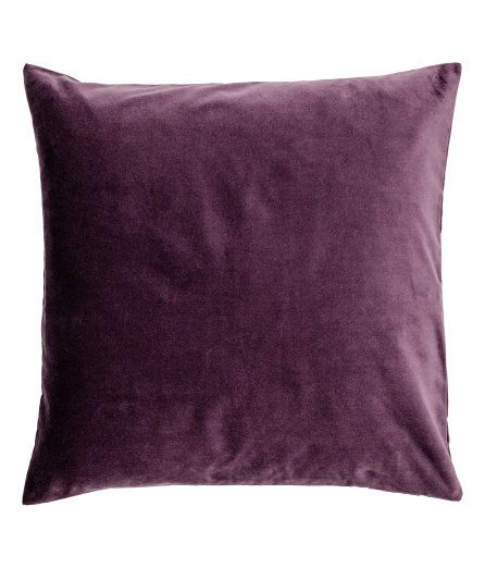 Sieh's dir an! Kissenhülle aus Baumwollsamt. Verdeckter Reißverschluss. – Unter hm.com gibt's noch viel mehr.
