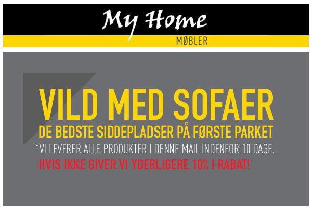 Vild med sofaer? Få de bedste #sofa #tilbud hos My Home møbler