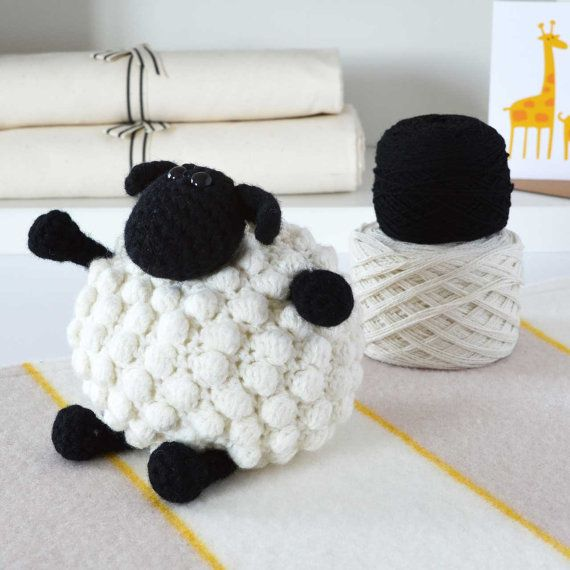 Luxury Bobble Sheep Amigurumi Crochet Kit  Looks by WarmPixieDIY