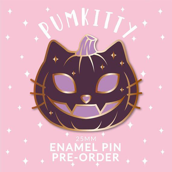 Pumkitty Pumpkin Halloween Enamel Pin Pre Order