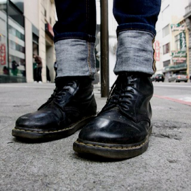 Ain't nothing like broken-in Doc Martens. Especially on a man. I love Docs on men. Sexy no, super sexy yes.