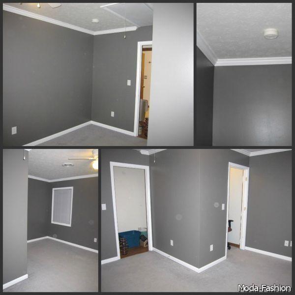 gray wall paint 2014-2015 Moda 2014-2015 small rooms Pinterest Gray, Gray wall paints ...