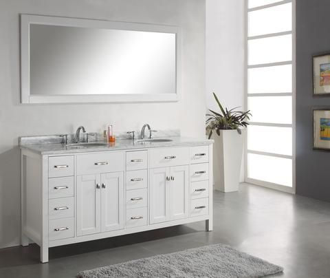 Image Of Virtu USA Aveline Traditional bathroom Vanity White finish http