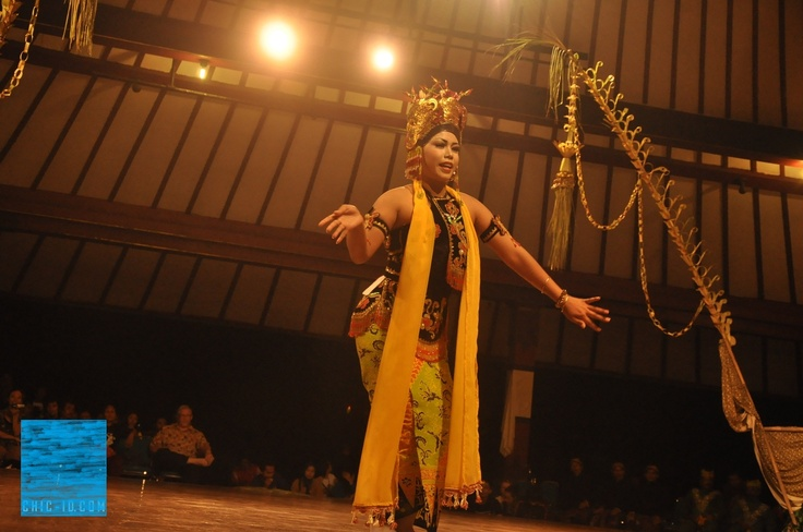 Dancing Tayub, exotic traditional dance of Central Java, Indonesia.