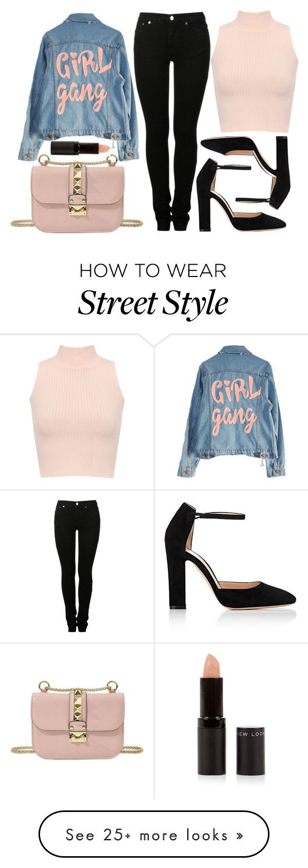 """""""street style"""" by sisaez on Polyvore featuring High Heels Suicide, Valentino, MM6 Maison Margiela, WearAll, Gianvito Rossi and New Look"""
