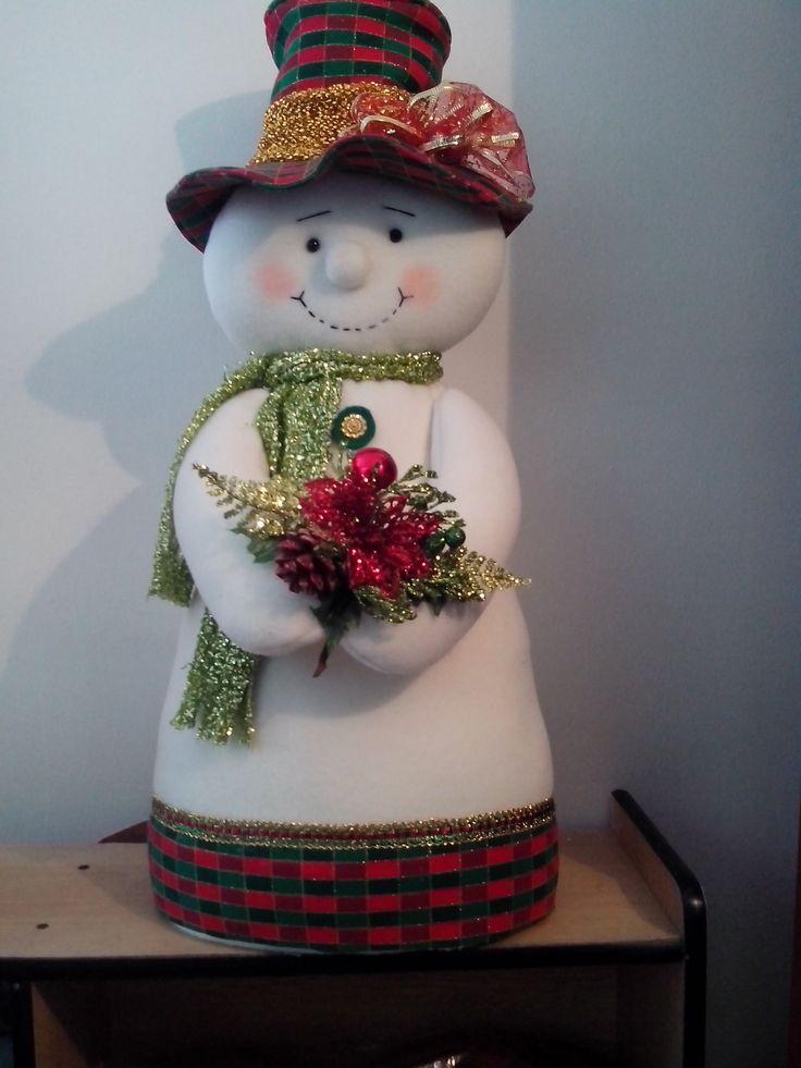 Muñeco de nieve centro de mesa.