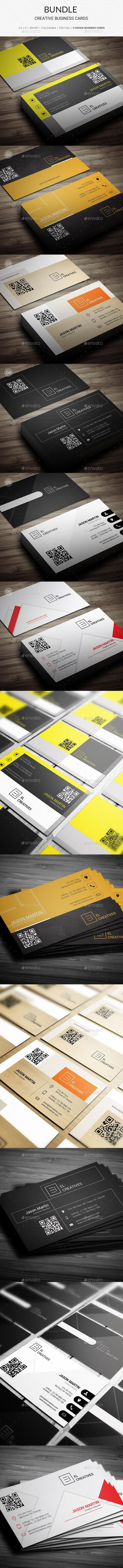 Bundle 6 in 1 - Creative Business Card Template #design Download: http://graphicriver.net/item/bundle-6-in-1-creative-business-card-150/12738363?ref=ksioks