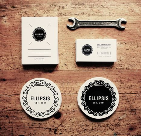 Ellipsis Fixed Gear Workshop by Ooli Mos, via Behance
