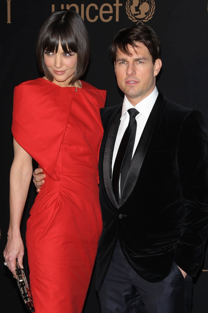 Katie Holmes red dress