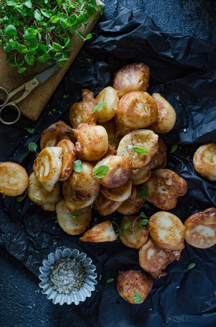 Salty Feta Puffs | Feta Loukoumades | Chew Town Food Blog