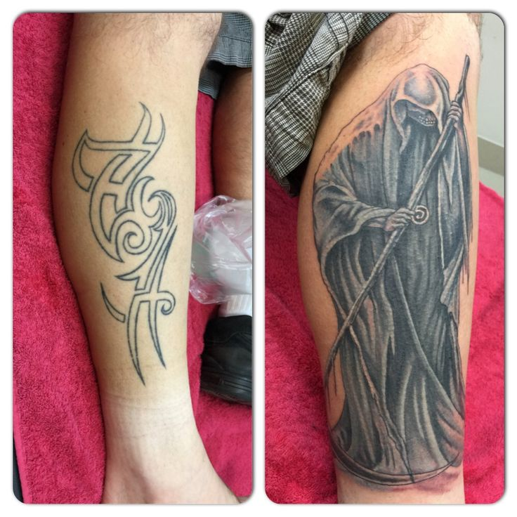 Cover up of tribal outline