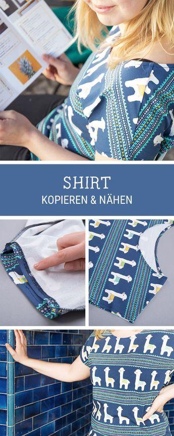 Näh Dein Lieblingsshirt einfach nach: DIY-Anleitung für Mode / sew your favorite shirt by using it as a sewing pattern via DaWanda.com