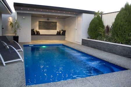 dark grey garden render pool - Google Search