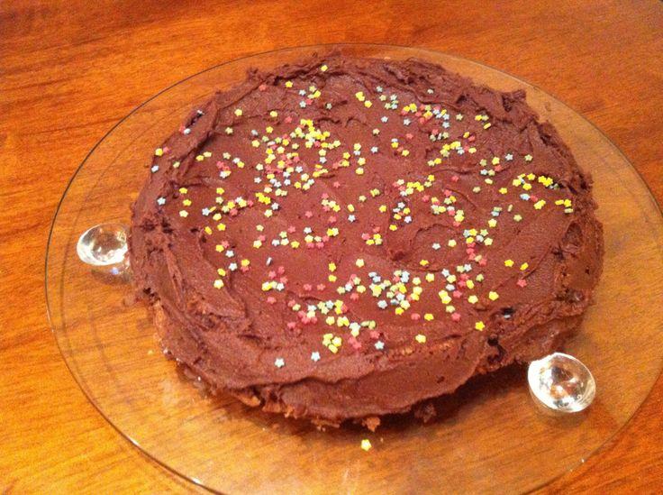 Enkel gluten- og melkefri sjokoladekake