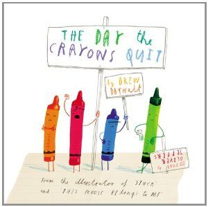 "Writing With Voice: Using the book, The Day The Crayons Quit as a model, students write from the point of view of an object that might ""quit"" and why - I don't know this book but I love the idea"