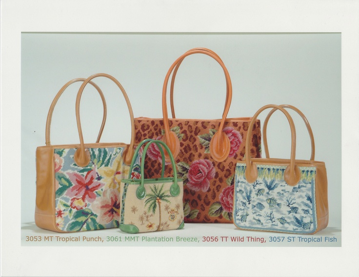 Totes in Tropical Punch, Plantation Breeze, Wild Thing, and Tropical Fish