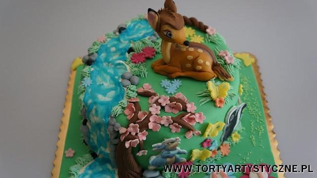 tort z jelonkiem Bambi.  Childrens Birthday Cakes