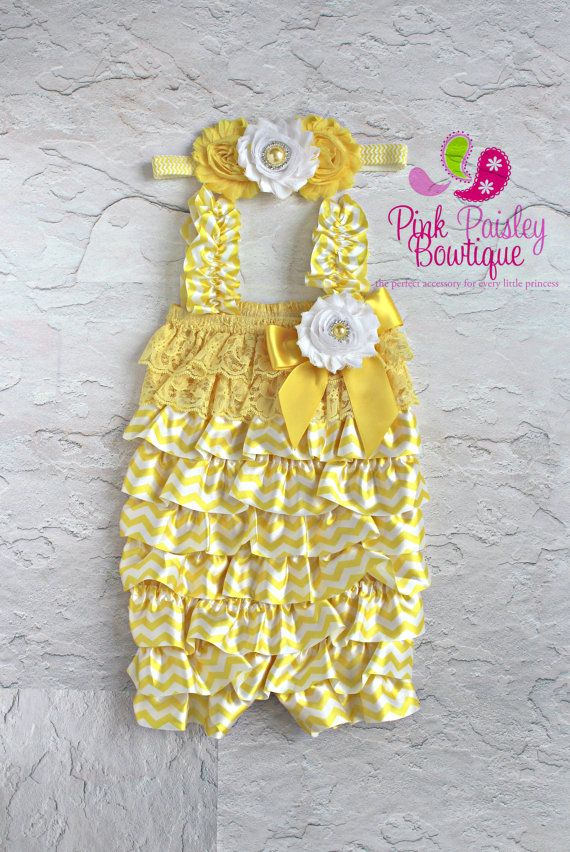 baby ruffle romper lace romper petti romper by Pinkpaisleybowtique