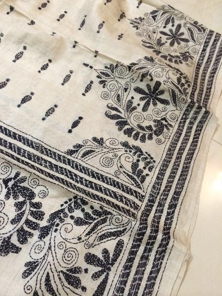 82 Best Kantha Images On Pinterest Stitches Embroidery Designs