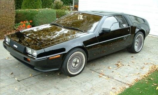 Black DeLorean