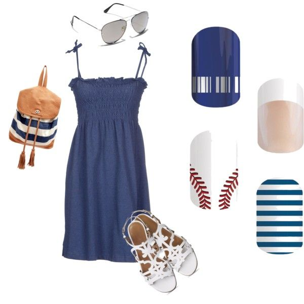 Jamberry Yankees Outfit and Wraps by kvbjams on Polyvore featuring beauty, Vince Camuto, Sabrina Tach and SUN68
