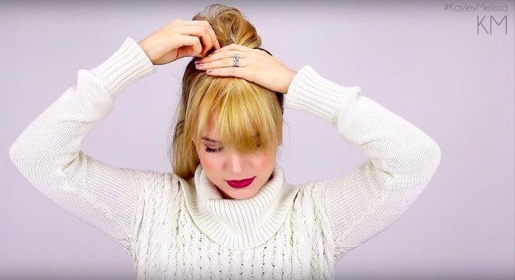 Come si può ottenere una frangia finta usando solo i propri capelli e senza ricorrere a posticci e extension? Ecco il facilissimo trucco magico delle star!