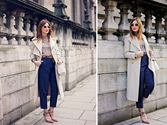 Get this look: http://lb.nu/look/7853016  More looks by Elena Sandor: http://lb.nu/eileen08  Items in this look:  Primark Coat, Topshop Trousers, Forever 21 Blouse, Carvela Bag, Reiss Heels, Pierre Cardin Sunglasses   #casual #minimal #street #fall #streetstyle #raincoat #streetfashion #trench #elegant