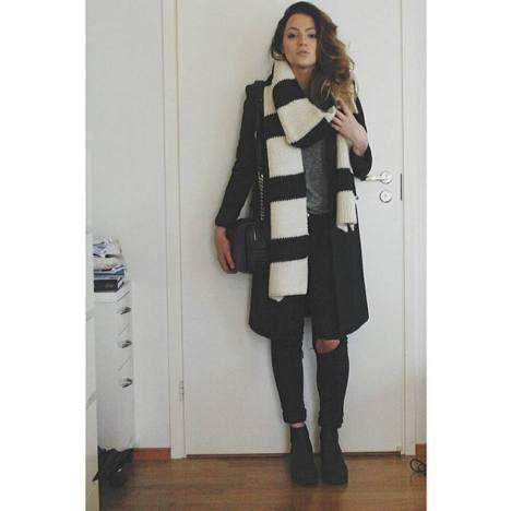 Päivän asu -kilpailun viikkovoittaja on Felicia - Tämä mustavalkoinen tyyli ihastuttaa.