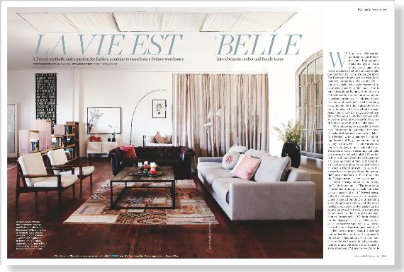 Lifestyle Interiors. Clipped from ©marie claire Australia using Netpage.