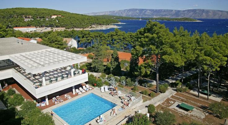 Hotel Hvar Jelsa Hotel Hvar is situated on the Island Hvar in the small picturesque town Jelsa on a wooded hill, sloping to the shoreline, with large lavender and rosemary fields in the vicinity.