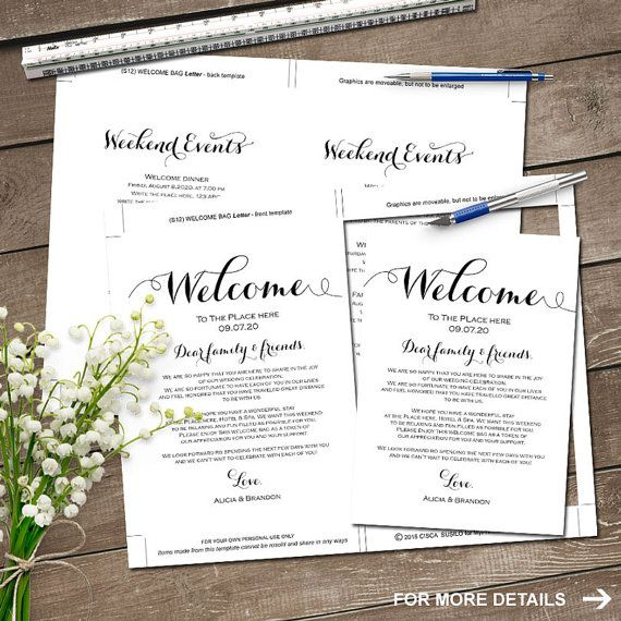 Best 25+ Wedding weekend itinerary ideas on Pinterest Welcome - wedding weekend itinerary template