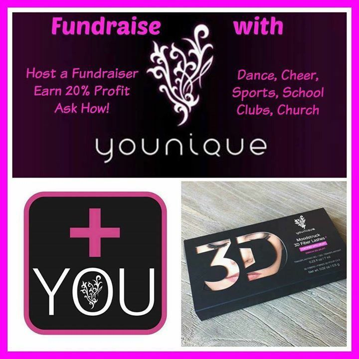Hold an Online Fundraiser with Younique and your Team or Cause will receive 20% of the sales. Wouldn't you rather buy mascara and lip gloss than your typical fundraiser items? Send me an email for more details at Kristin.YouniquePresenter@gmail.com