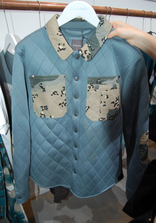 Gsus quilted shirt jacket with camouflage detailing, from Bread & Butter Berlin. #bbb