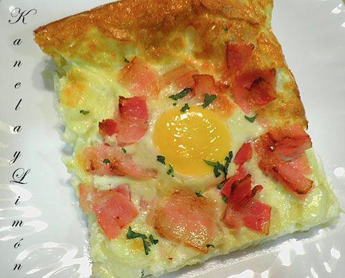 Kanela y Limón: Hojaldre con huevos y bacon