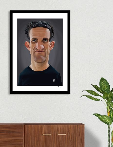 Discover «Casey Neistat», Numbered Edition Fine Art Print by rob art | illustration - art | decor | wall art | inspiration | caricatures | home decor | idea | humor | gifts