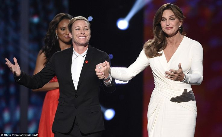 Special night: Abby Wambach introduced Caitlyn as she presented the award...