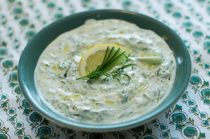 Tzatziki med sitron og dill