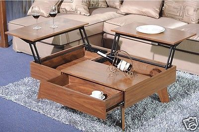 Details about Lift Up Top Large Coffee Table Hardw…